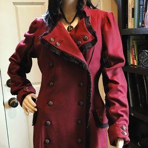 Blacklist Women's Red Wool Coat - size L